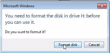 Windows was unable to complete the format.2