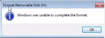 Windows was unable to complete the format._1