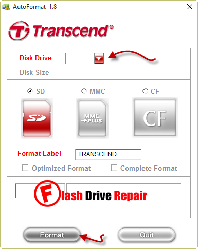 Transcend -Autoformat- v1.8 -software- download-mmc-memory-card